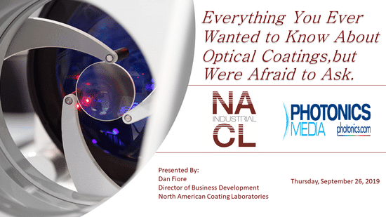 optical coatings comprehensive webinar link