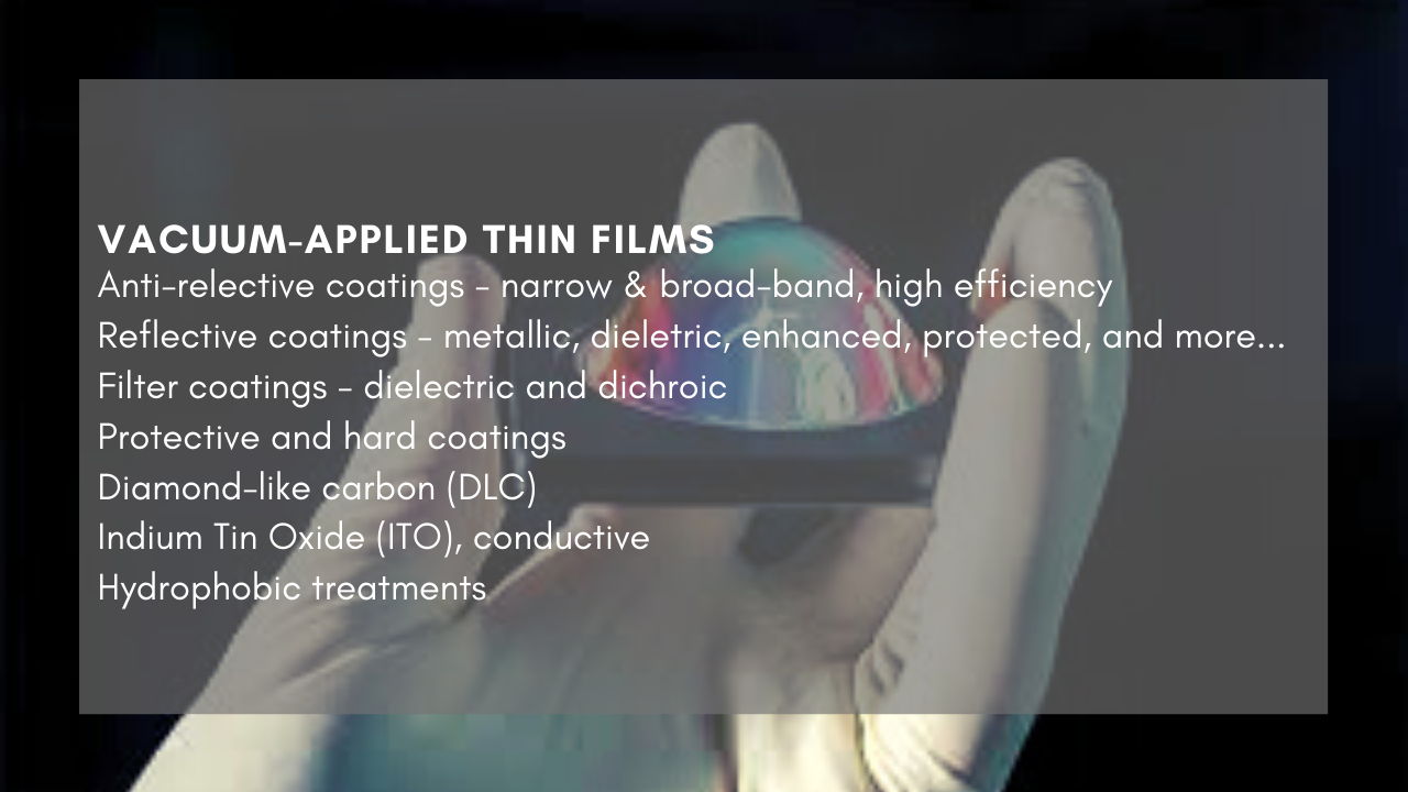 Vacuum-Applied Thin Films Inforgraphic