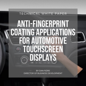 automotive touchscreen display technical white paper anti fingerprint
