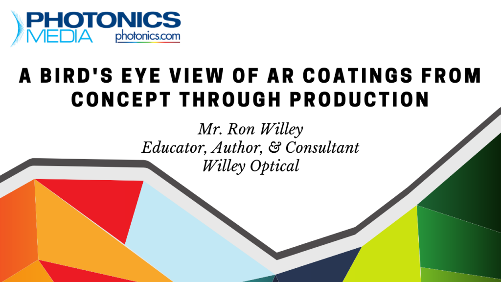 AR coating design process comprehensive webinar