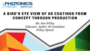AR coating design process comprehensive webinar