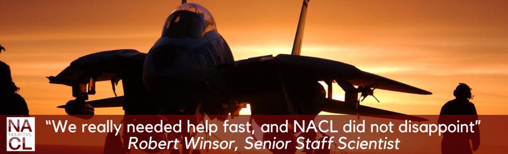 customer success story header aerospace company